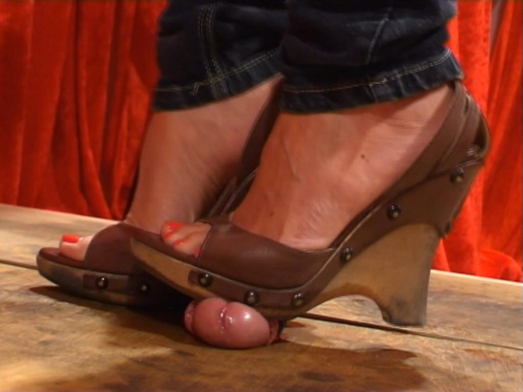 Squeezing A Bound Cock – Dominated By Heels