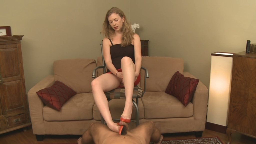 Cum Dripping Off Red Shoes – Mistress T