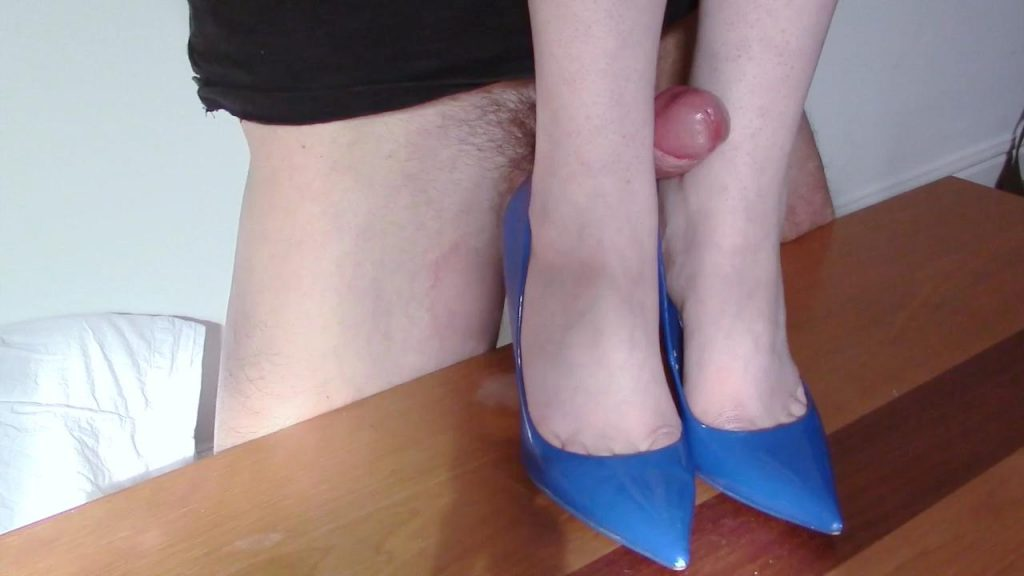 Patent Blue Heels Fucking – Shiny Shoejobs