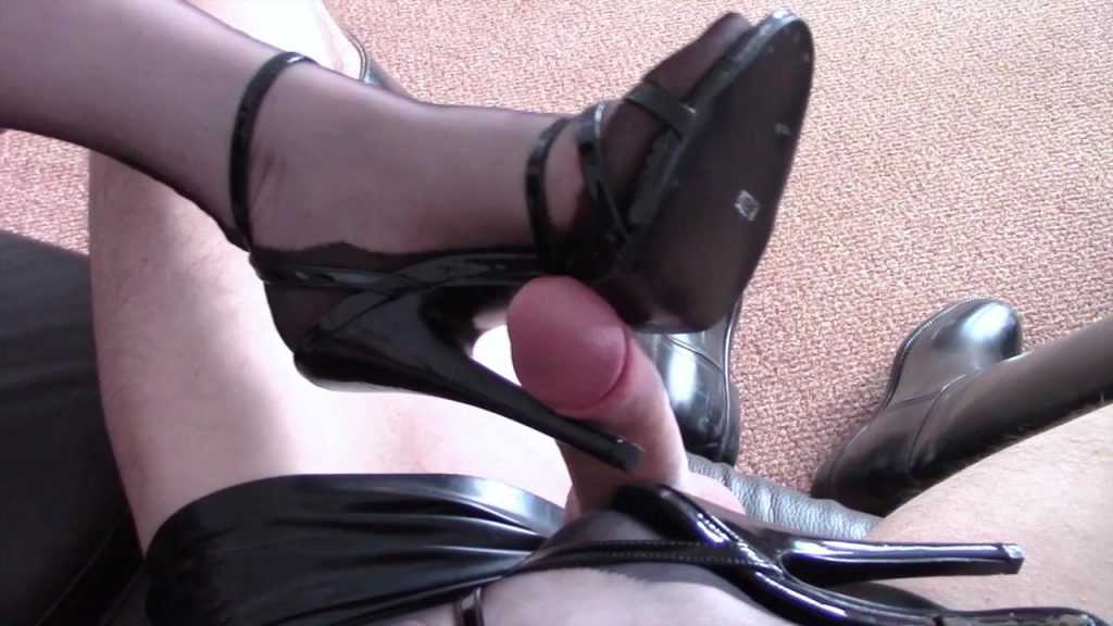 Cum On 6Inch Sandals & Stockings – Shiny Shoejobs