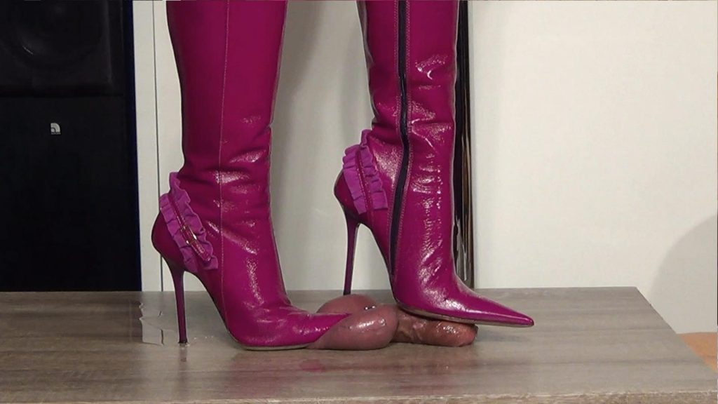 Lady Latisha Extreme Sadistic Heel Insertion & Cruel Trample Cock Crushing Clip 5 – Cut Of Two Views!