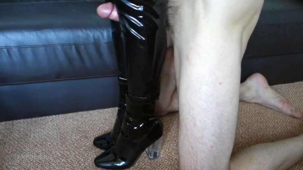 PVC Trousers Boot Cum – Shiny Shoejobs