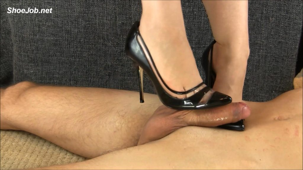 Black See-Through Stilettos – Shiny Shoejobs
