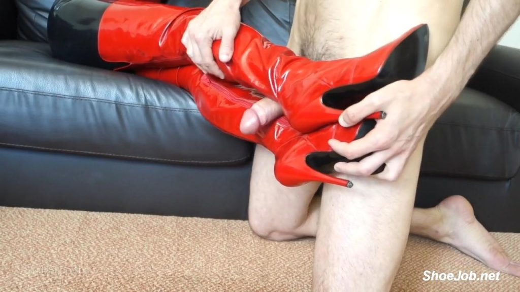 Red Thigh High Boot Fucking – Shiny Shoejobs