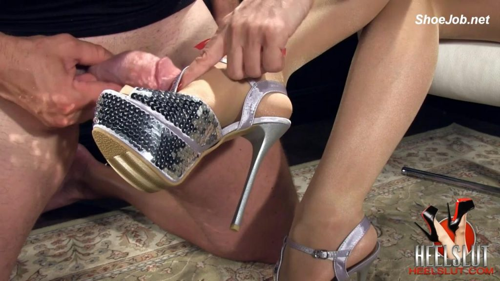 Worship My Shiny Silver Stiletto Heels – Heel Slut