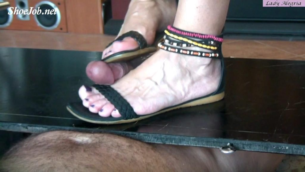 Milked In Summer Sandals – Lady Alegria`s Footfetish