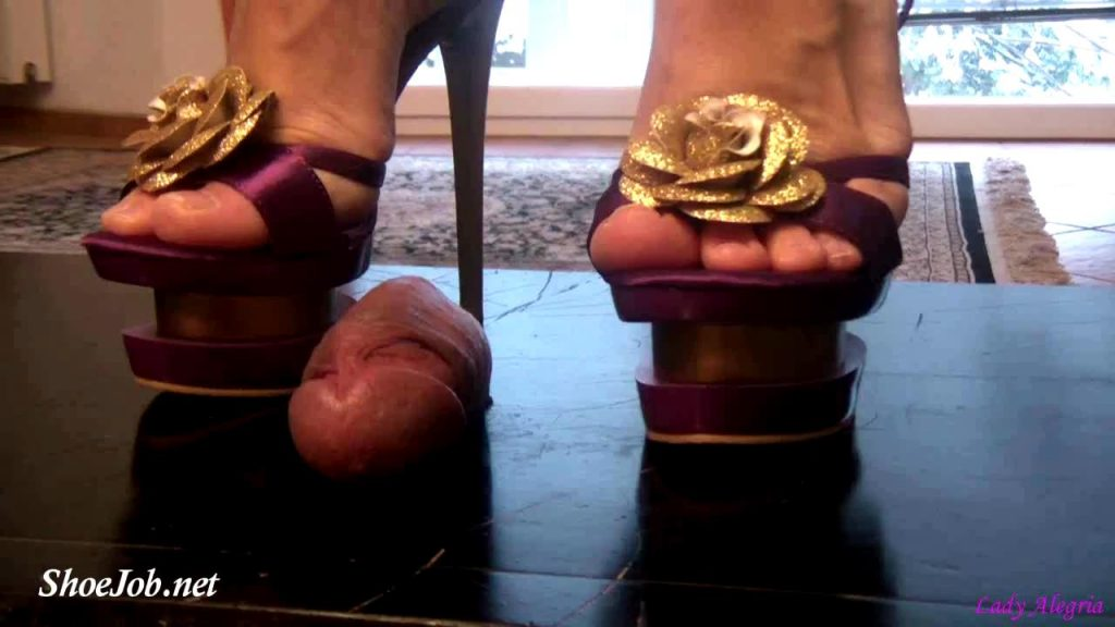 Cum Under My Purple Heels – Lady Alegria`s Footfetish