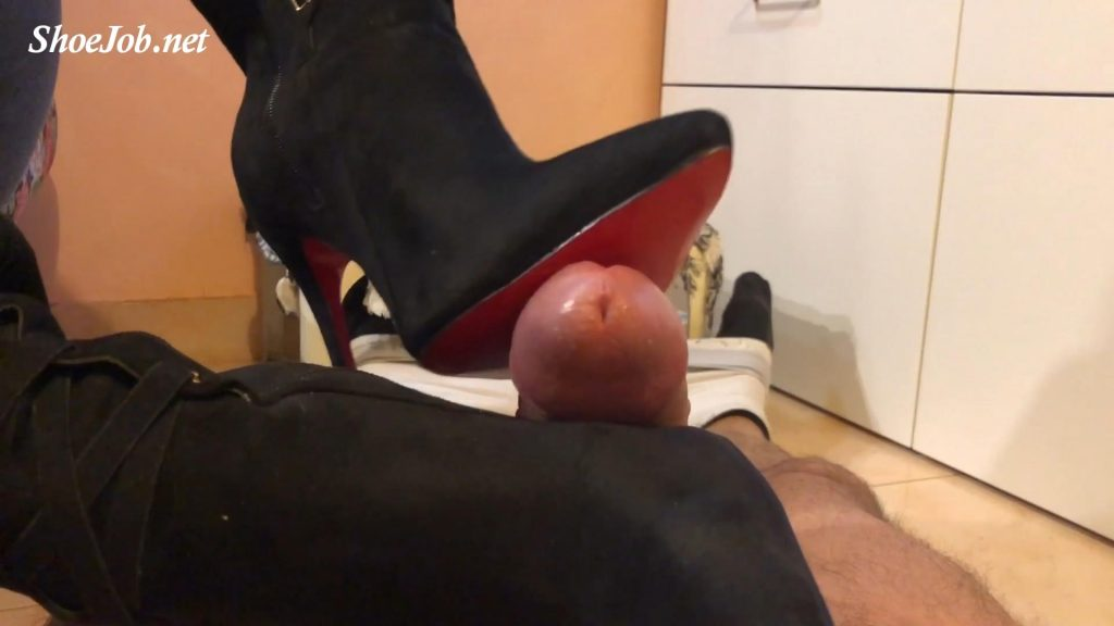 Fucking Red Soles Black Suede Boots – Sinner Fetish Store