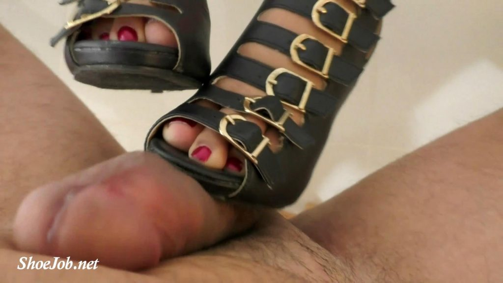 Natacha Makes Bootjob With Big Cum – Latin Domination Goddesses