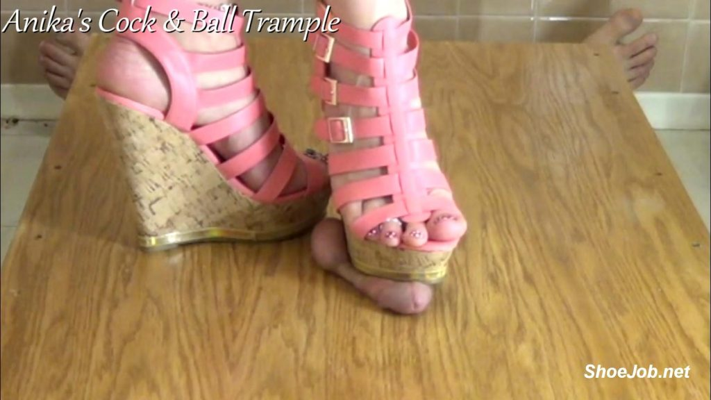 Cum Under My Wedges! – Anikas Cock and Ball Trample