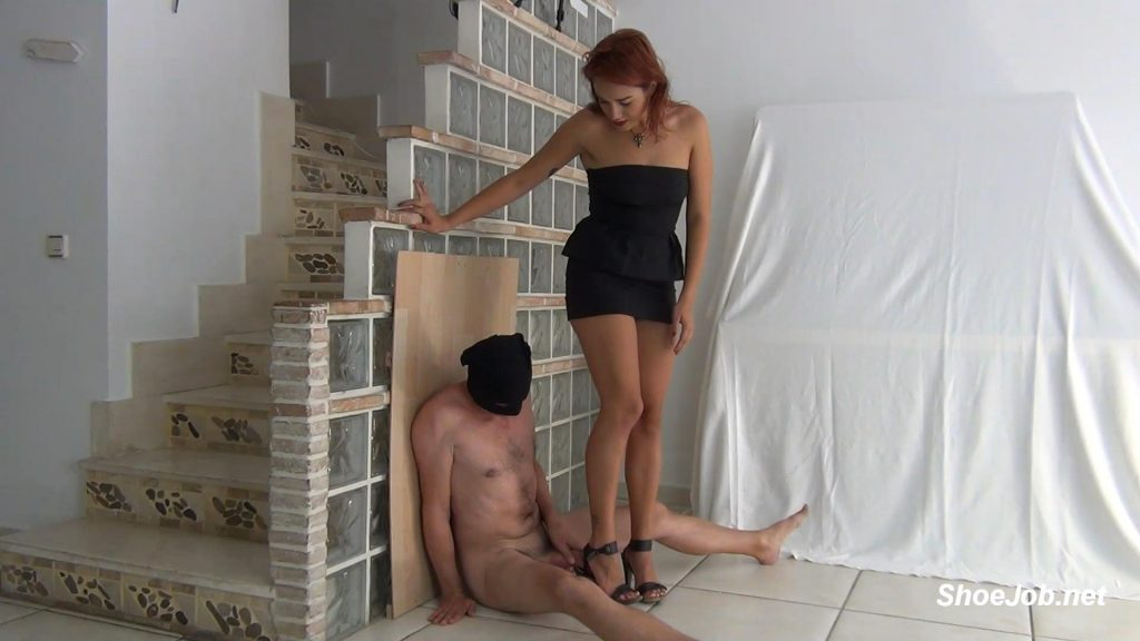 Trampling Footjob Inside Shoe, Ballbusting, Humiliation By The Strict Mistress Lara Cuore – Aballs And Cock Crushing Sexbomb