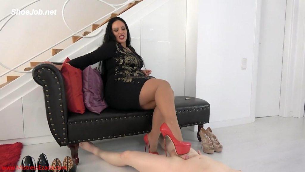 A Rough Shoejob Punishment – Mistress Ezada Sinn