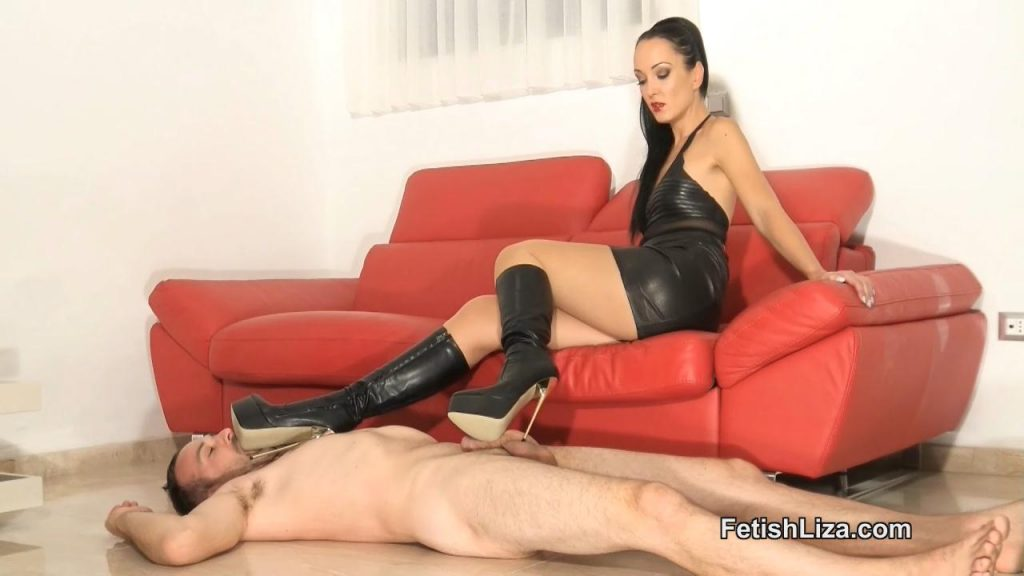 Cum On My Extreme Boots Part 1 – Fetish Liza