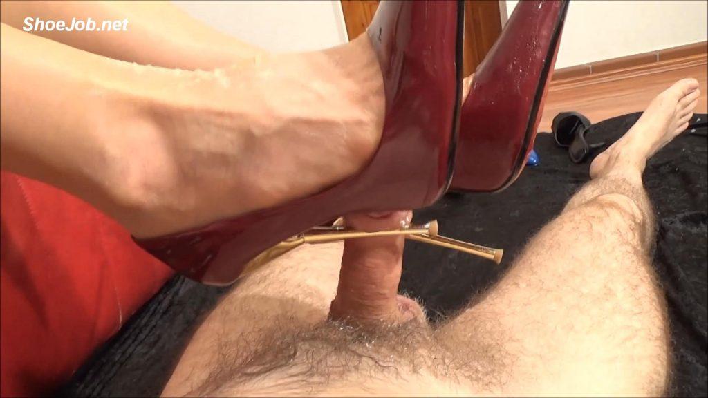 Sperm Splattered 5,5 Inch High-Heeled Court Shoes – Fetish Lady Imperatriza