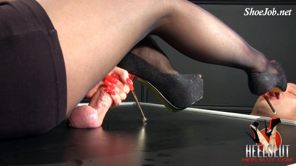 Black Glitter Pumps – Heel Slut