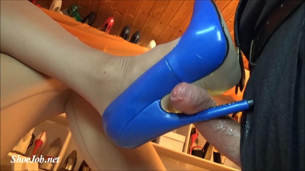 Toy mastrubation, cock torture and gallons of cum in 7 inch fetish high heels – part 3 – Fetish Lady Imperatriza
