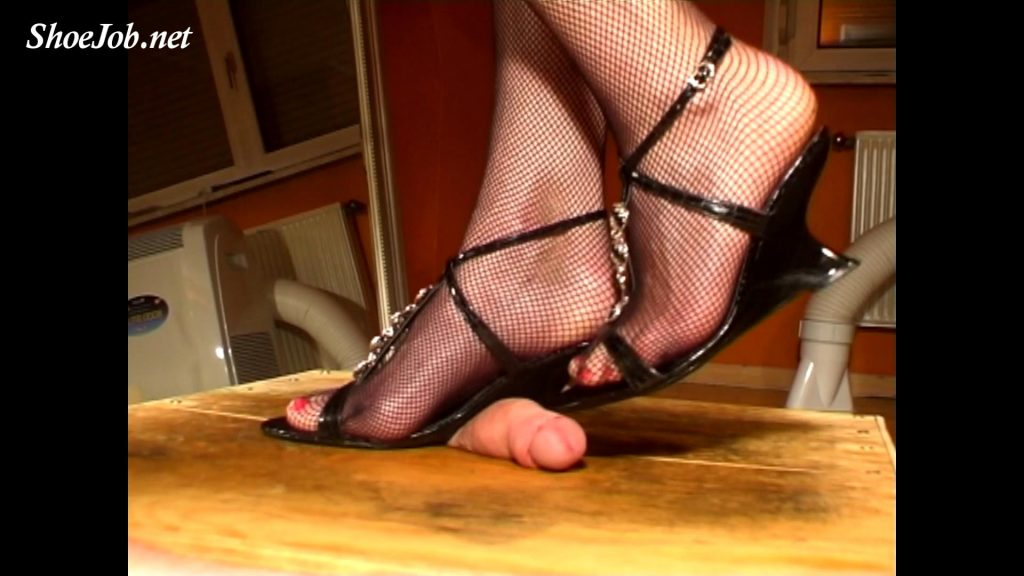 Sharp Wedges Stomp Him To Orgasm Twice – Cock Crushing Shoejobs