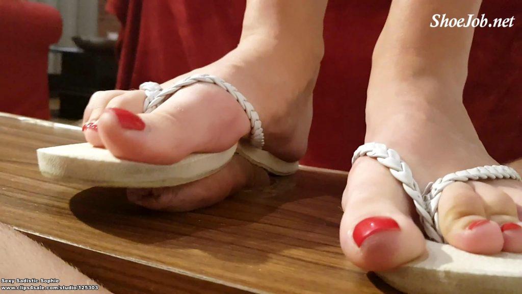 Small Penis Trampling – Cum Under My Flip Flops – Sexy Sadistic Sophie